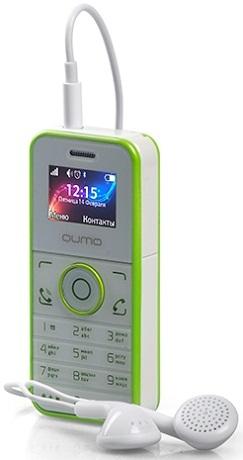 733b2c4b700 тел.мобильный QUMO Push mini white green белый с зеленым телефоны оптом.  Купить